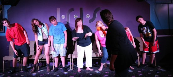 Comedy Hypnosis with Guy Michaels: Monkey see, monkey do as the participants follow along to the monkey moves.