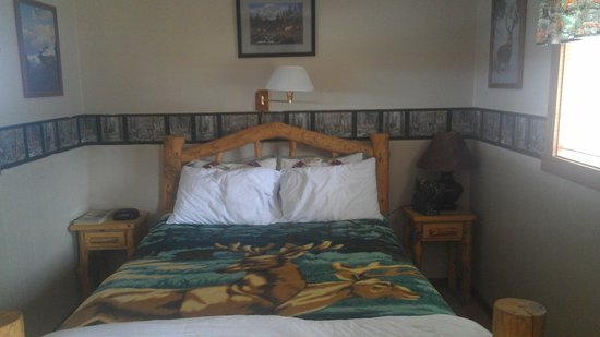 Mountain View Motel & RV Park: The Elk Room(view of the bed)