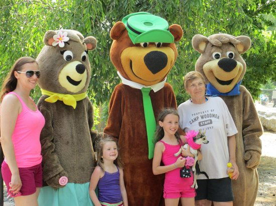 Yogi, Boo Boo, and Cindy with Guests