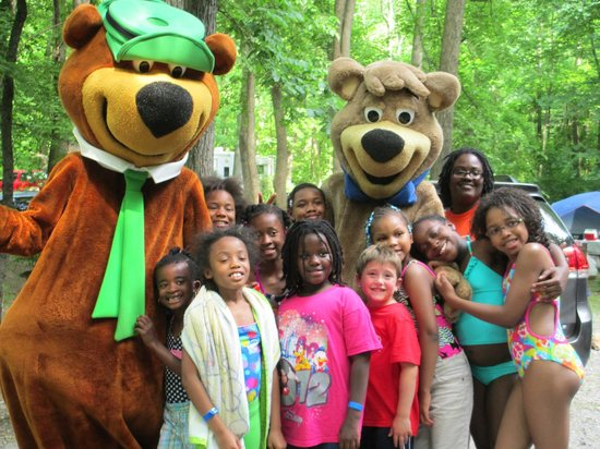Yogi and Boo Boo with Guests