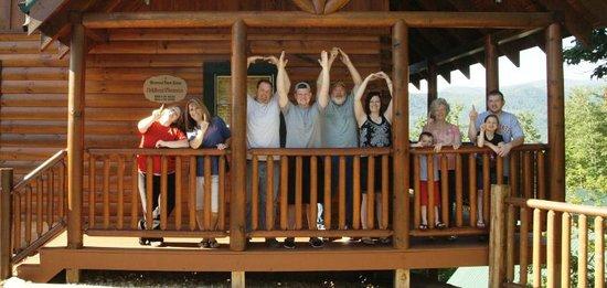 Sherwood Forest Resort: Back porch - O-H-I-O