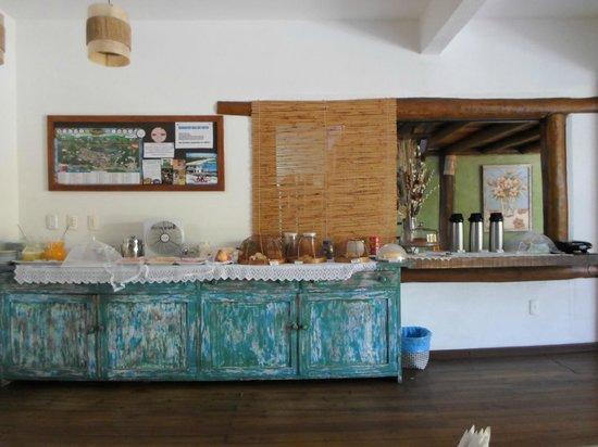 Pousada Rosa dos Ventos: Salão de café da manhã/chá da tarde
