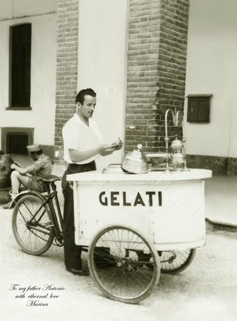 Golosi Gelato Cafe: My father Antonio selling gelato in Italy (1946)