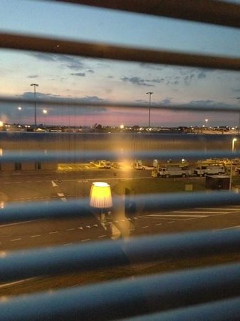 citizenM Schiphol Airport: view from bedroom