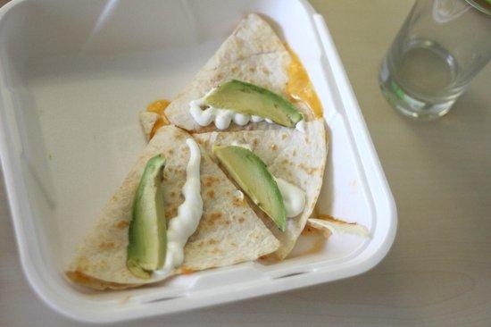 Tia Cori's Tacos: chicken quesadillas