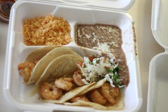 Tia Cori's Tacos: shrimp tacos