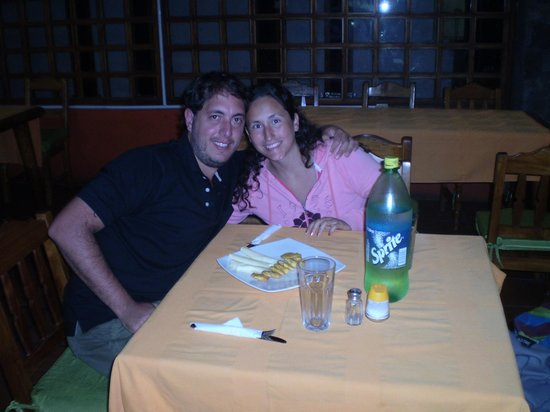 Cafe Hernan Bar Restaurante: Cenando patacones!