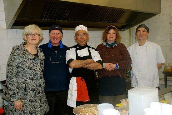 Chi Pan Asian Takeaway Galway: john & sally McKenna visiting CHI