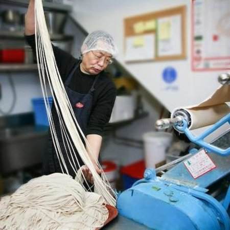 Chi Asian Bistro : han tuo making fresh noodles