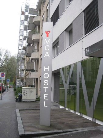 YMCA Hostel Basel: Short walk to Train Station and Bus Stops
