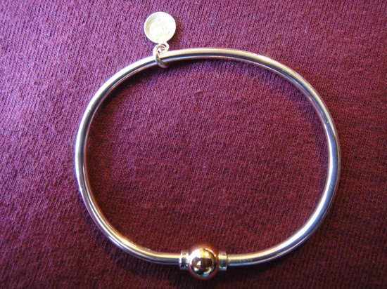 Dennis, MA: The original Cape Cod Screwball bracelet—silver with one gold ball