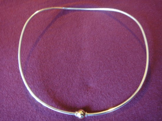 Neck wire silver with one gold ball picture of eden hand for Cape cod fish bracelet