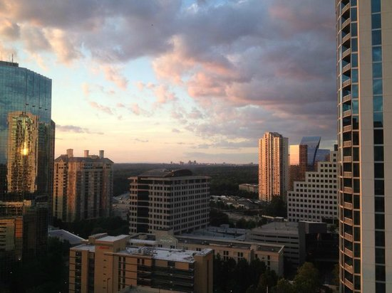 Grand Hyatt Atlanta in Buckhead: View of Buckhead at sunset with downtown Atlanta in the background