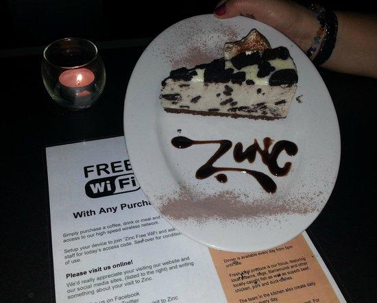 Zinc Port Douglas: cookies and cream cheesecake xx