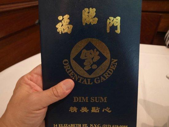 Oriental Garden Restaurant : メニュー