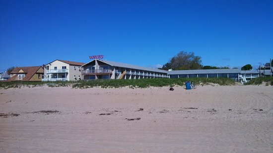Waves Oceanfront Resort: A look from the beach.