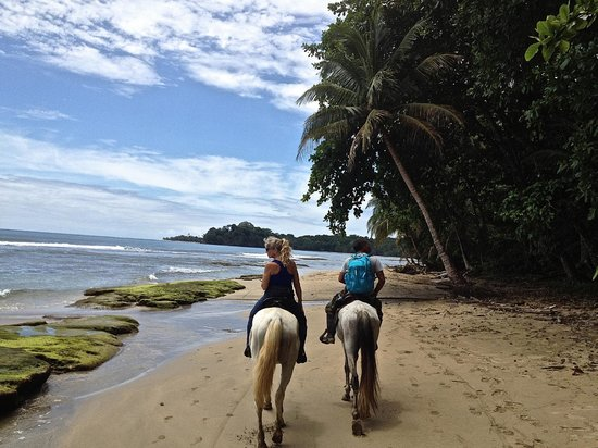 Hidden Jungle Beach House: Lisa and Raul on our Beach/Jungle Ride