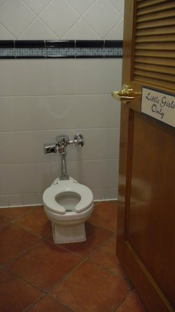 "Madonna Inn : ""Little Girls"" toilet --- toddler size!"