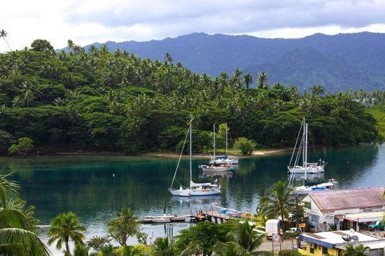 Savusavu Hot Springs Hotel: View from the balcony