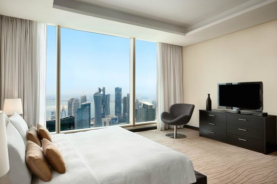 Kempinski Residences & Suites, Doha: The master bedroom of a Two Bedroom Suite