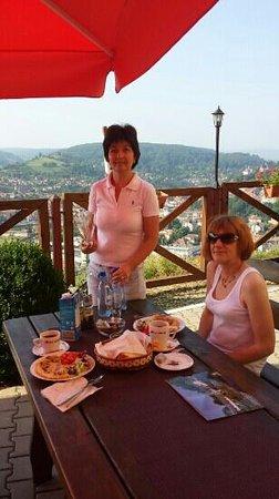 Bella Vista: Breakfast on the terrace