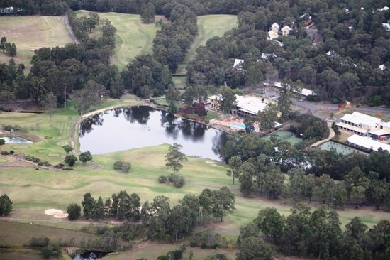 Oaks Cypress Lakes Resort : View from Helicopter