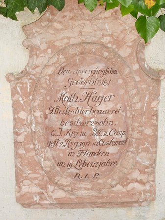 Old Cemetery Berchtesgaden : Stèle de Mathias HAGER