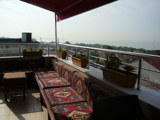 rooftop sitting area picture of sayeban hotel istanbul