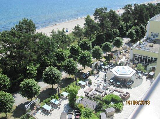 Arkona Strandhotel: Utsikt från takterassen