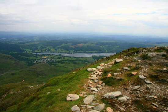Old Man of Coniston : Coniston Water from the summit