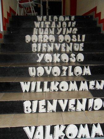 The Drunken Monkey Hostel: Welcoming stairs