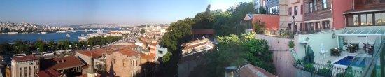 Hayriye Hanim Konagi Hotel : Vue panoramique sur la terasse de l'hôtel