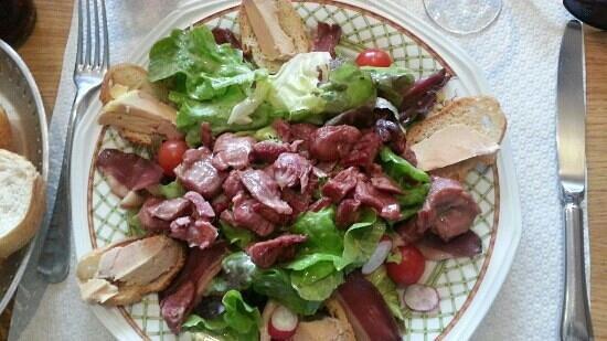 Hotel Restaurant de l'Agriculture : salade landaise