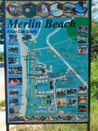 Khaolak Merlin Resort: Map of area