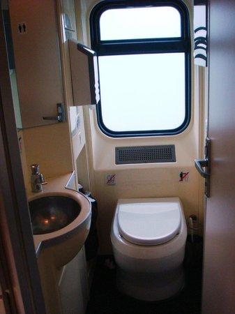 Red Arrow Express: Toilet on train