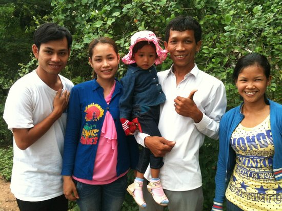 Angkor Taxi Cambodia Private Day Tours: Mr.KIN , his beautiful wife and lovely baby