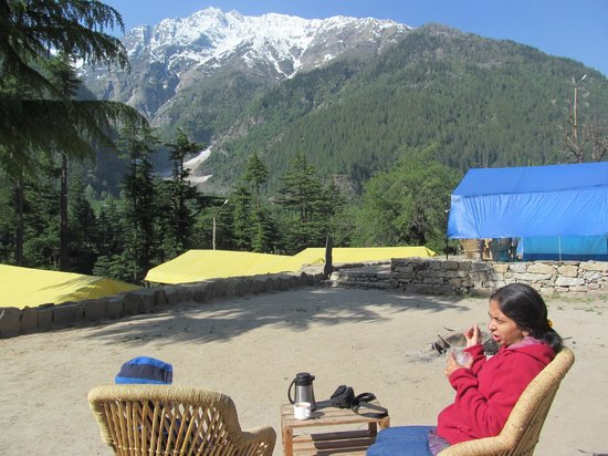 Kinner Camp Sangla: View from campground