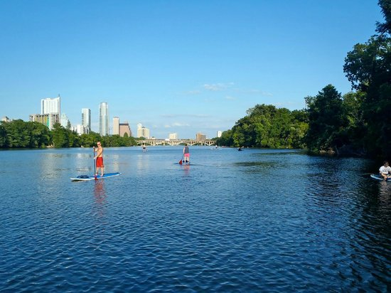 Paddleboarding on Town Lake - Picture of Austin, Texas