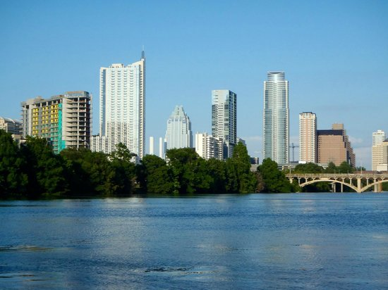 Texas Rowing Center: Awesome skyline view from the water