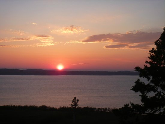 West Quoddy Head Station : View of the sunset from my room's deck