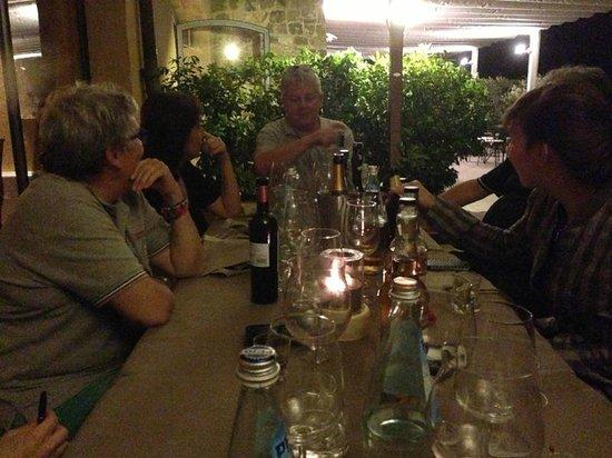 Ristorante Cortefreda: un po' di bottiglie in compagnia...