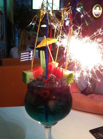Glory Days Sports Bar and Grill : Cheeky Vimto Fish Bowl
