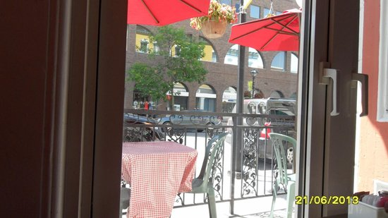 Paulo's Italian Trattoria: view from our table by the window