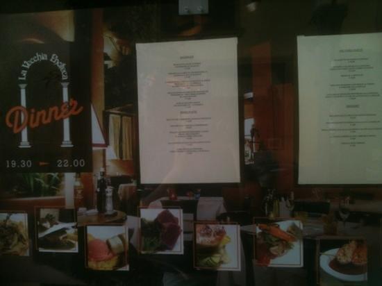La Vecchia Enoteca: menu
