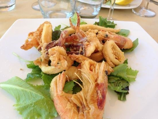 La Meridiana: frittura gamberi e calamari