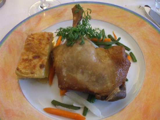 Restaurant La Farigoule: メイン 鴨のコンフィイ
