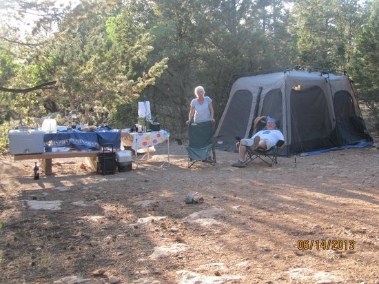 Mather Campground: our site
