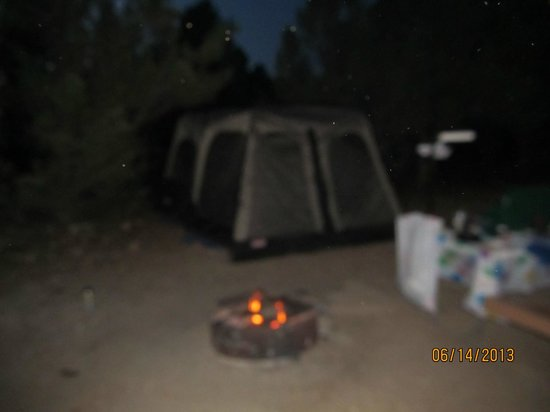 Mather Campground: evening at our site