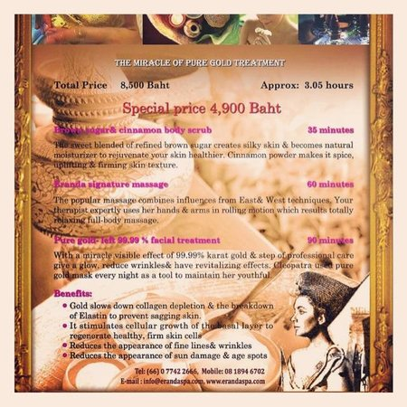 Eranda Herbal Spa: Spa package