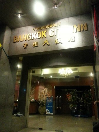 Bangkok City Inn: View of Hotel Entrance
